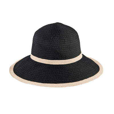 Women's Ribbon Sun Hat W/ Jute Stripes (RBM4787)