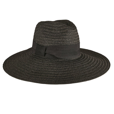 Hats - Women's Ultrabraided Fedora With Knotted Grosgrain in Black