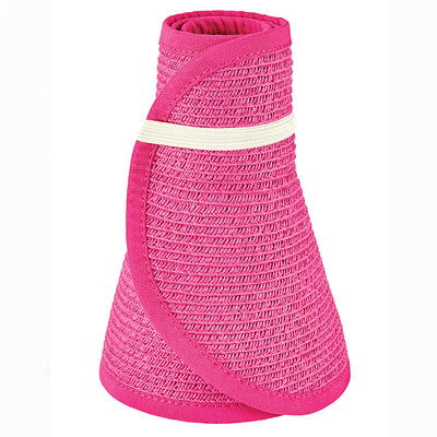 San Diego Hat Company's Signature Women's Ultrabraid Large Brim Visor in Fuschia