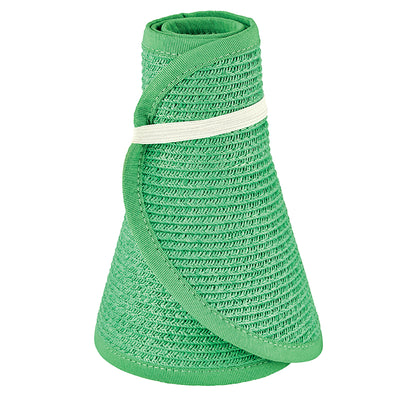 San Diego Hat Company's Signature Women's Ultrabraid Large Brim Visor in Green