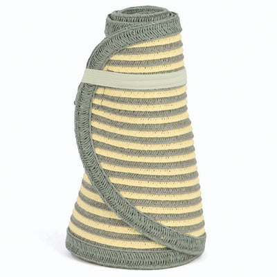 San Diego Hat Company's Signature Women's Ultrabraid Large Brim Visor in  Yellow Stripes
