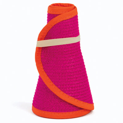 San Diego Hat Company's Signature Women's Ultrabraid Large Brim Visor in Pink/Orange