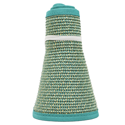 San Diego Hat Company's Signature Women's Ultrabraid Large Brim Visor in  Mixed Aqua
