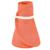 San Diego Hat Company's Signature Women's Ultrabraid Large Brim Visor in Orange