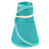 San Diego Hat Company's Signature Women's Ultrabraid Large Brim Visor in Teal