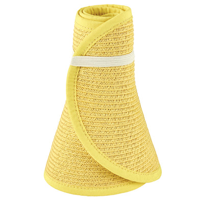 San Diego Hat Company's Signature Women's Ultrabraid Large Brim Visor in Yellow