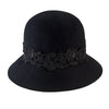 Women's Cloche With Lace (WFH8037OS) in Black