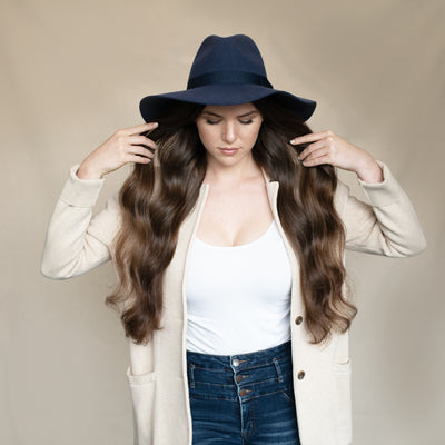 Women's Floppy Fedora With Bow (WFH8049)-FEDORA-San Diego Hat Company