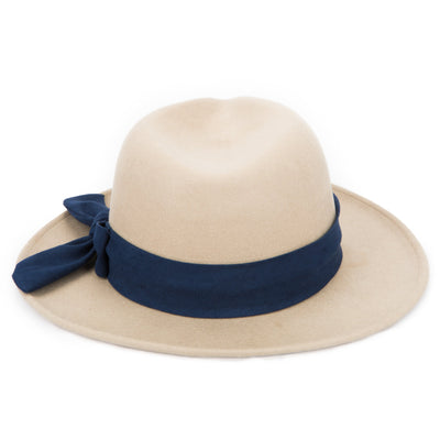 Women's Fedora with Contrast Side Bow (WFH8109)