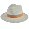 Women's wool felt fedora with leather band