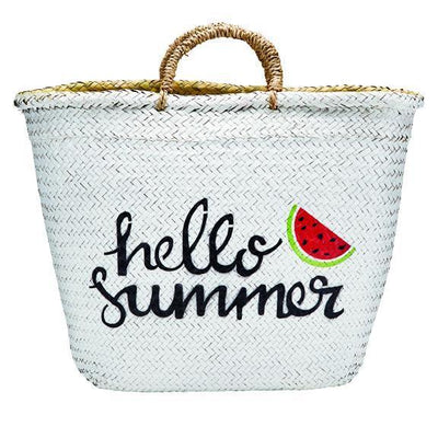 BAG - BaySky Woven Seagrass With Painted Exterior Hello Summer