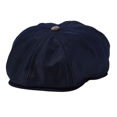 Baker Boy - 8-panel Baker Boy Hat With Novelty Print Lining, Faux Suede Button And Underbrim