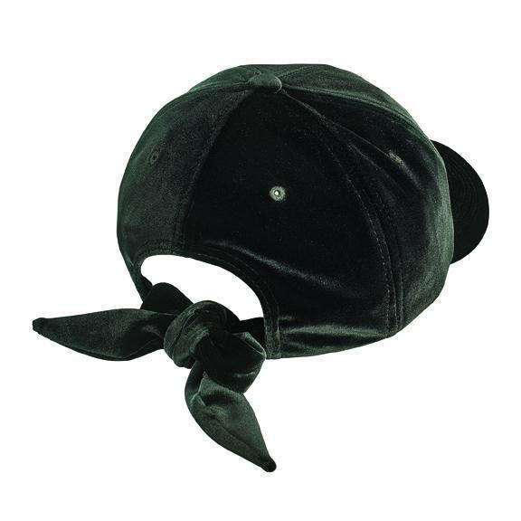solid velvet ball cap with adjustable bow closure - San Diego Hat ... db50c333d441