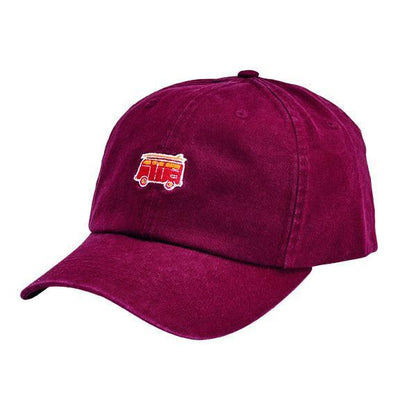 CAP - WASHED COTTON TWILL DAD CAP W/ VELCRO BACK CLOSURE & VAN FLAT EMBROIDERY