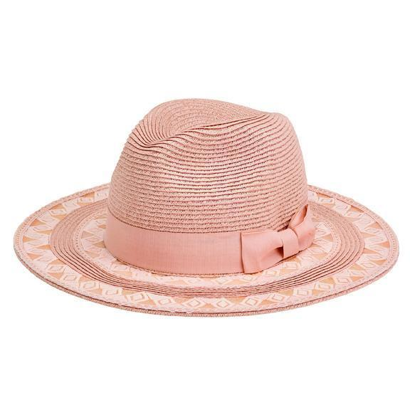 aad3e0a741c01 Women s ultrabraid fedora with lace insets and grosgrain bow trim (UBF1101)