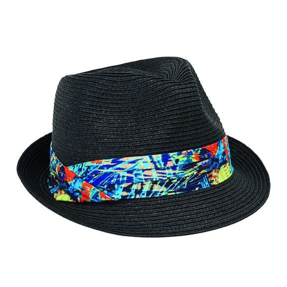 Women s ultrabraid fedora with tri-fold novelty print band ef56e50199ae
