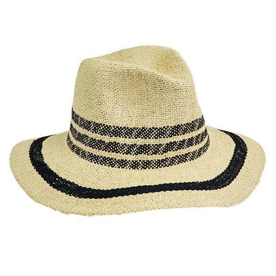 FEDORA - WOMENS FEDORA W/ POP COLOR STRIPES