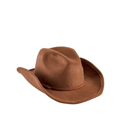 Faux Wool Cowboy Hat With Trim (CTK3549)
