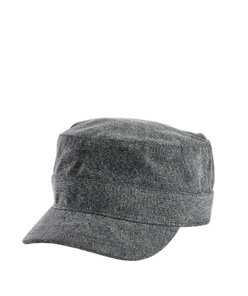 Hats - Unisex Distressed Cotton Twill Military Cap