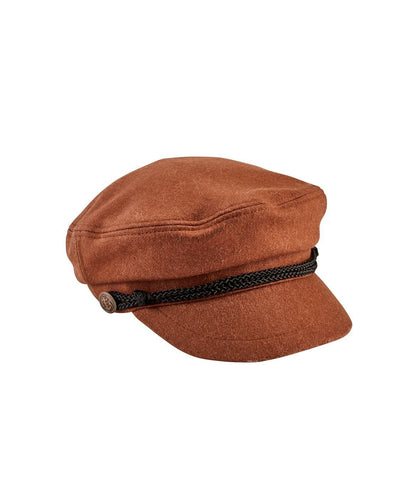 Hats - Women's Cabble With Braid Trim And Metal Buckle