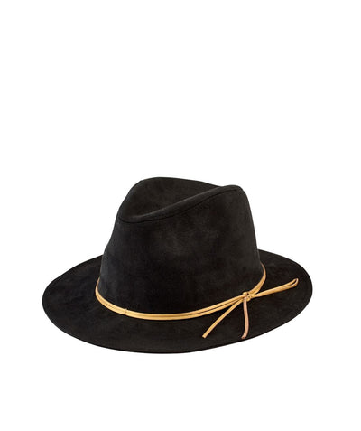 Hats - Women's Faux Suede Fedora