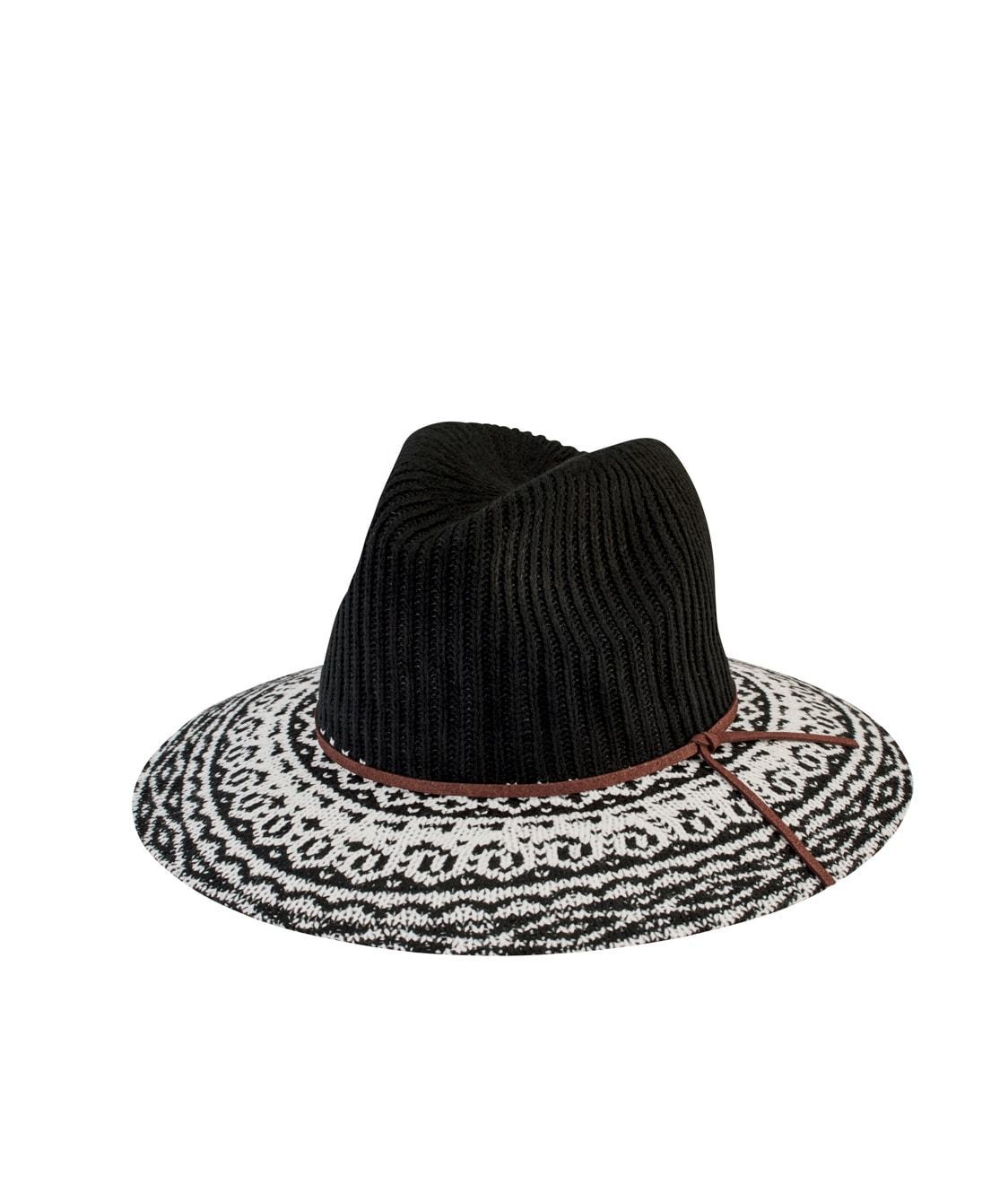 Women s Knit Pattern Fedora - San Diego Hat Company 508cd3004fc