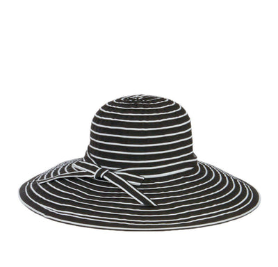 Hats - Women's Ribbon Braided Large Brim Hat With A Bow (RBL207)