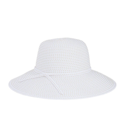 Hats - Women's Ribbon Crusher Medium Brim-Beige (RBM205)