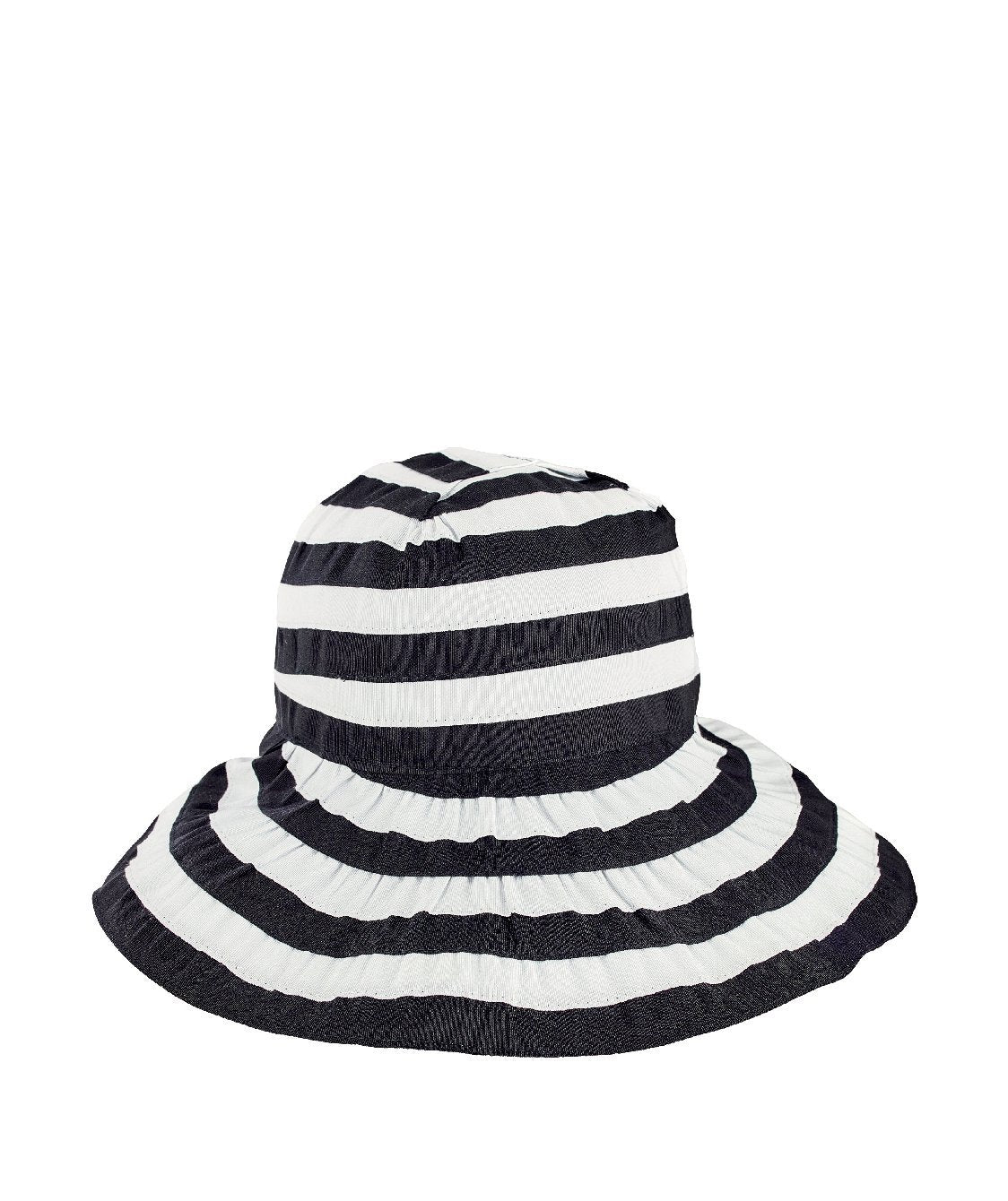 Womens Crossback Striped Ribbon - San Diego Hat Company 2c1894da9f97