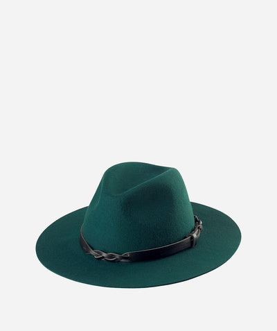 Hats - Womens Fedora With Woven Pu Band