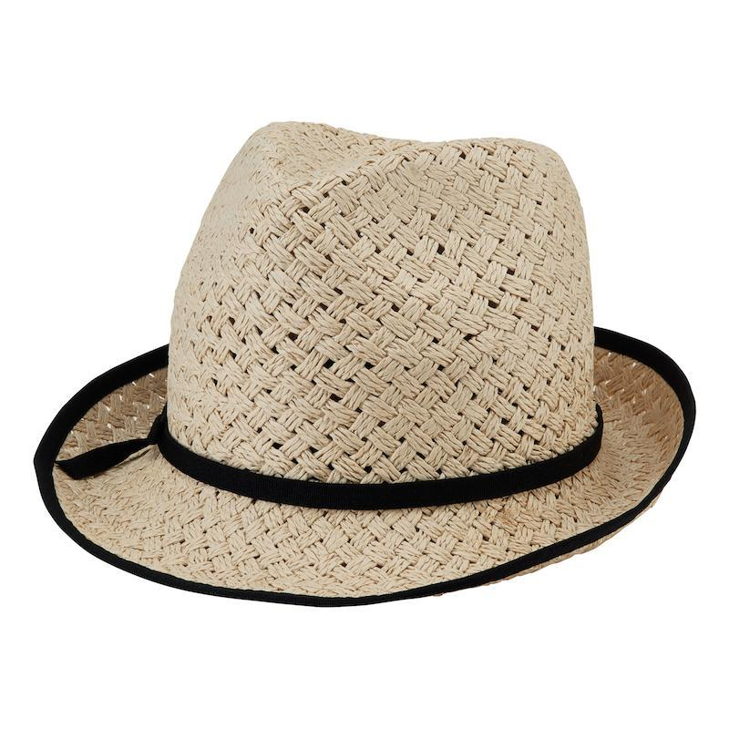 34a48a88d7b Womens Paper Open Weave Fedora-Natural-One Size (PBF7305)