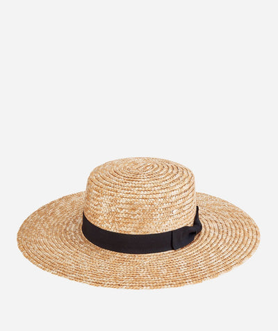 Hats - Womens Wheat Straw Sunbrim