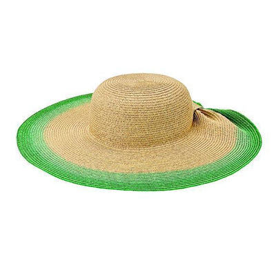 Sun Brim - Women's Ultrabraid Sun Hat With Gathered Back And Knotted Trim (UBL6822)