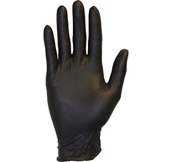 Black Powder-Free Disposable Nitrile Gloves