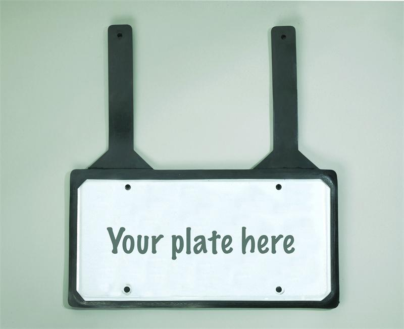 Rubber License Plate Holder with Straps