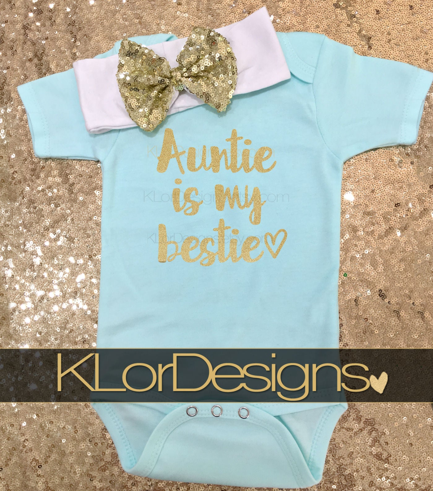 Auntie is my Bestie Baby Girl Outfit