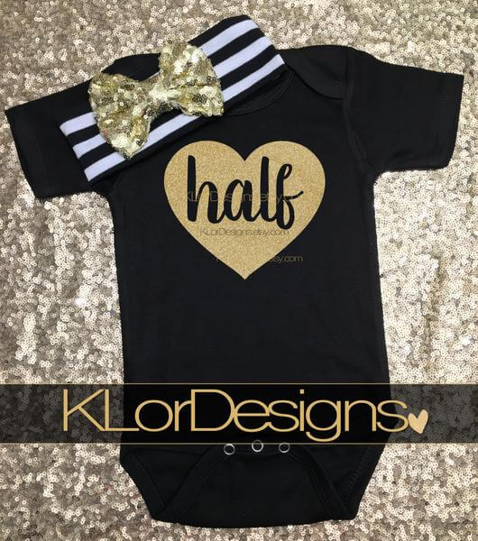 half birthday baby girl cake smash outfit