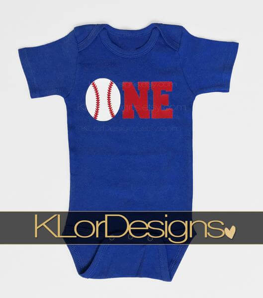 first birthday baby boy baseball onesie