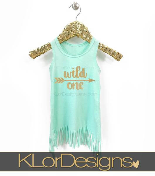 wild one first birthday toddler girl dress mint