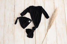 Load image into Gallery viewer, Boni ~ Black Baby gown + hat