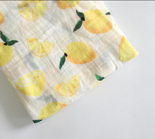 Load image into Gallery viewer, Muslin Swaddle - Lemons