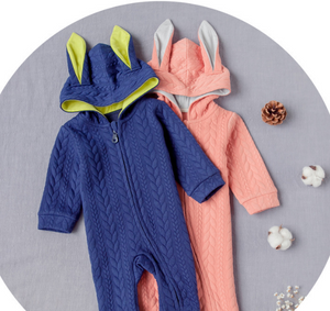 Playsuit easy zip bunny ears