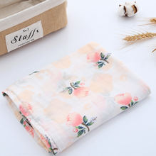 Load image into Gallery viewer, Muslin Swaddle - Roses