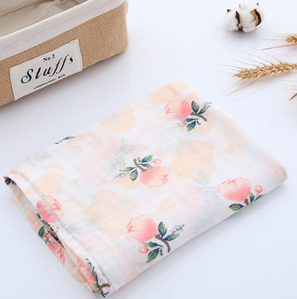 Muslin Swaddle - Roses