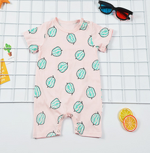 Load image into Gallery viewer, Melon baby romper short sleeve