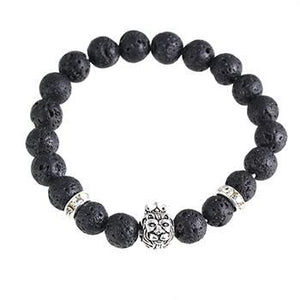 Lion Crown Charm Bracelets Made From Natural Stones