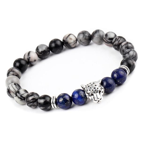 Lucky Charm Leopard Bracelets Made From Natural Stones