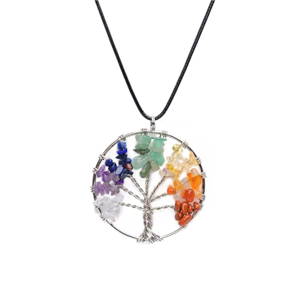 Tree Of Life Pendant Made From Natural Crystals