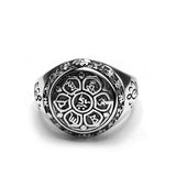 Buddha Six Words Mantra Ring Made From Solid 925 Sterling Silver