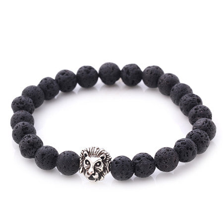 Alpha Lion Charm Bracelets Made From Natural Stones